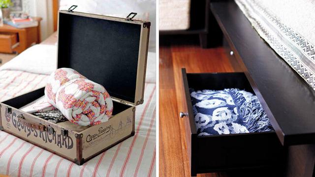 Идеи хранения постельного белья