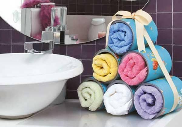Хранение полотенец в ванной