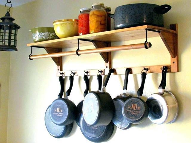 Открытое хранение сковородок