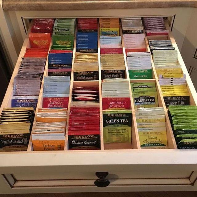 Хранение чайных пакетиков