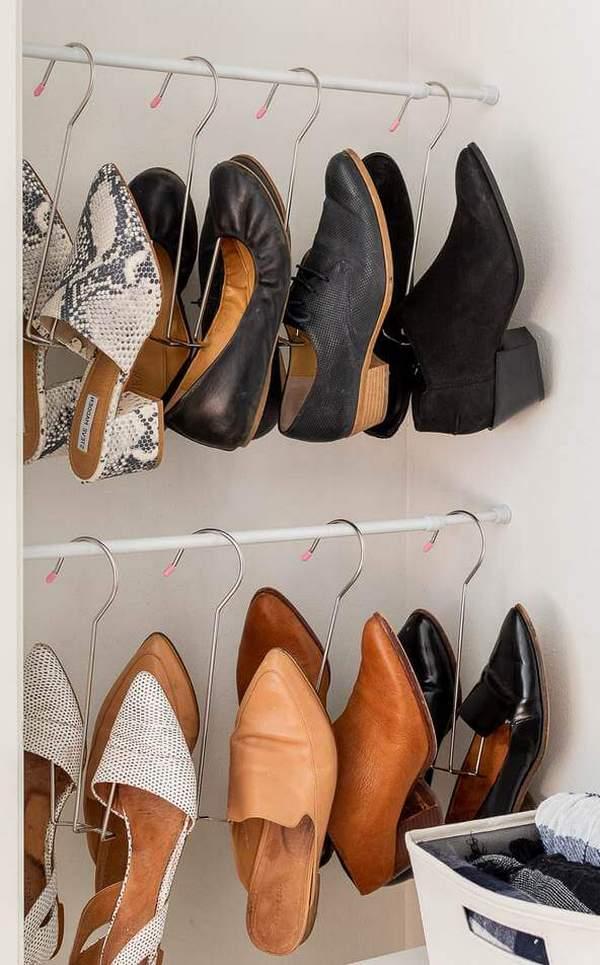 Идеи хранения обуви в шкафу