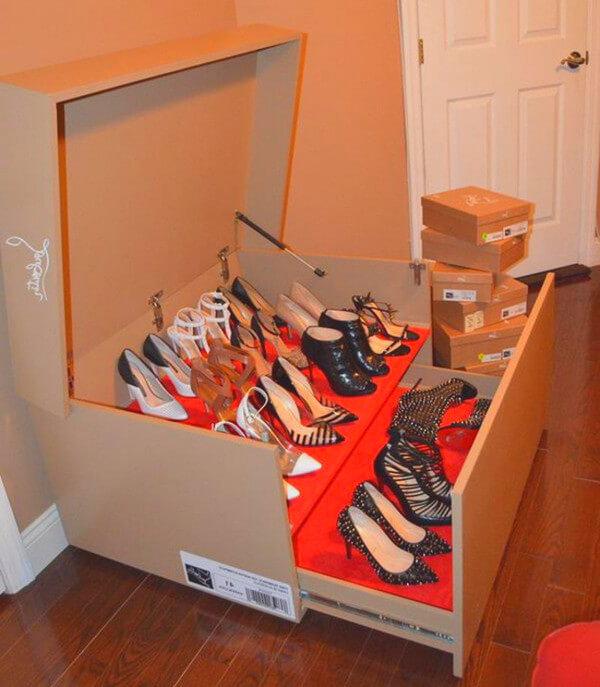 Лайфхак для хранения обуви