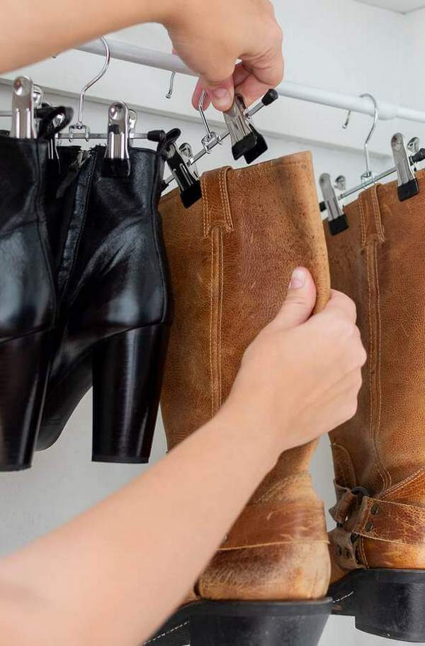 Подвесное хранение обуви