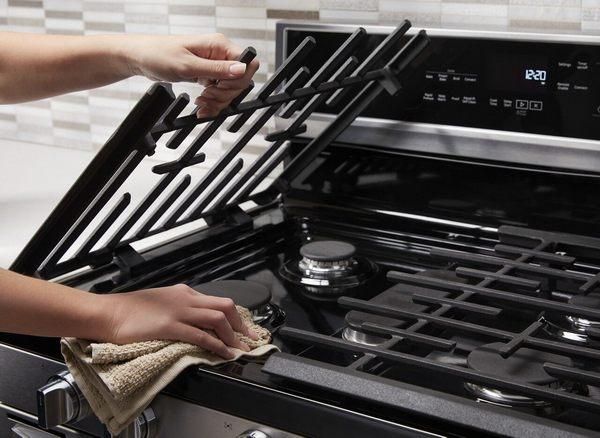 Как отмыть решетку плиты