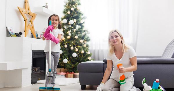Уборка дома перед Новым годом