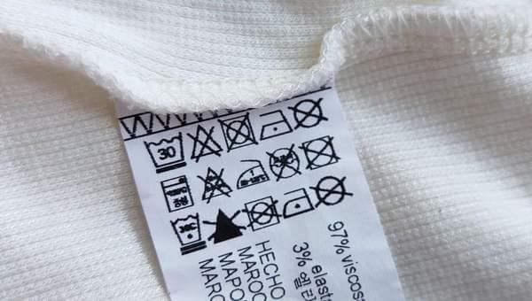 Знаки стирки и ухода на одежде